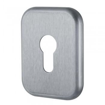 Накладка металлическая на замочный цилиндр, серебро