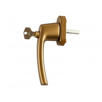 Ручка для окна с ключом, бронза
