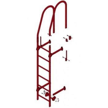 Лестница стеновая Grand Line (Гранд Лайн), 3м, комплект с крепежом