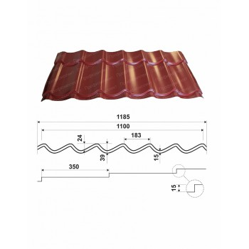 Металлочерепица Монтеррей с полимерным покрытием
