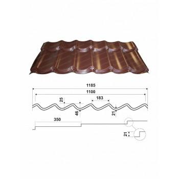 Металлочерепица Супер-Монтеррей с полимерным покрытием