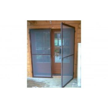 Рамочная москитная сетка на дверь, коричневая