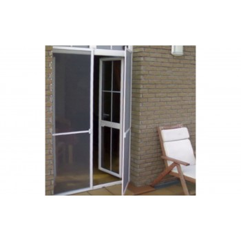 Рамочная москитная сетка на дверь, белая ( 32 профиль)